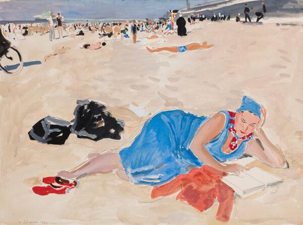 SOZONOV Valerie (mid-20th Century) - The beach at Scheveningen.