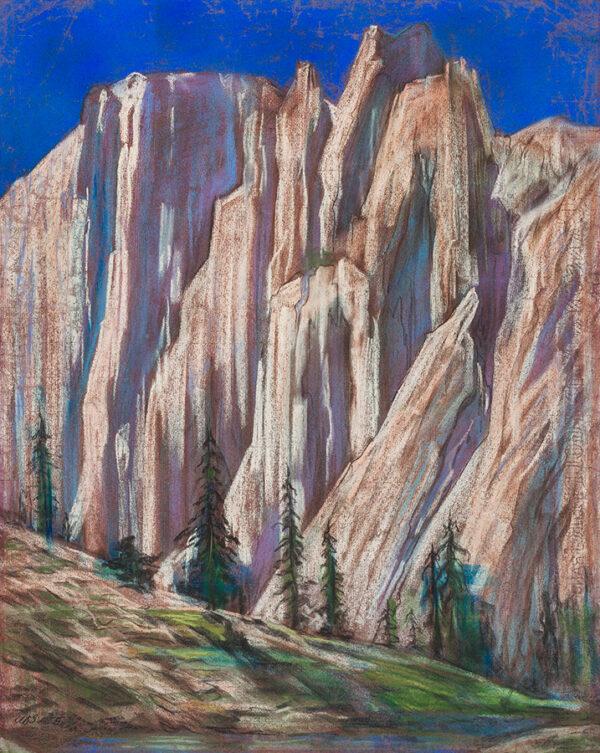 SPARE Austin Osman (1886-1956) - 'Mountains of the Moon'.