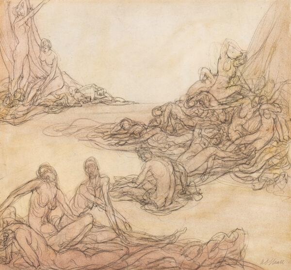 SPARE Austin Osman (1886-1956) - 'Paphian Aftermath'.