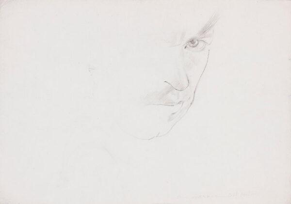 SPENCER Sir Stanley R.A. N.E.A.C. (1891-1959) - Self - portrait study.