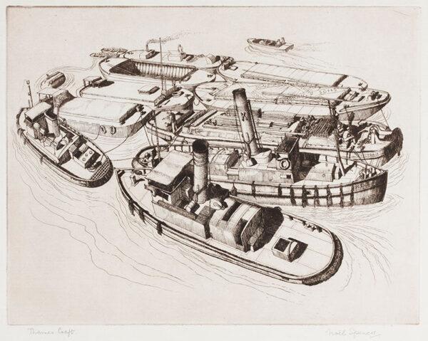 SPENCER Noel (1900-1986) - 'Thames Craft'.