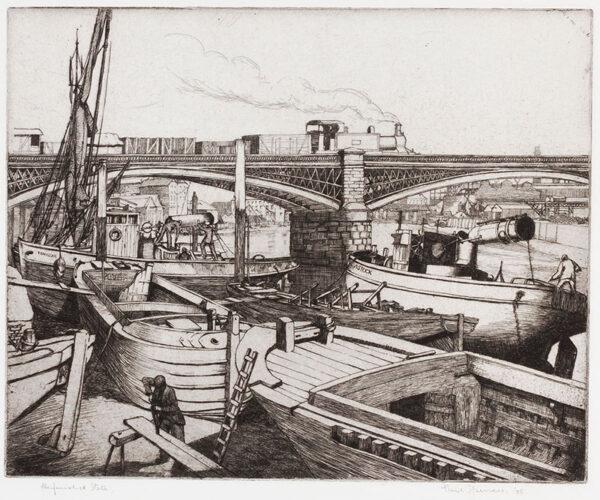 SPENCER Noel (1900-1986) - 'Downey's Wharf, Battersea'.