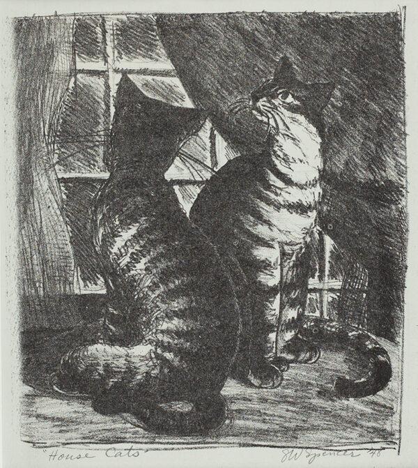 SPENCER G ( ?S ) W. (U.S.A.  fl.1940s) - 'House Cats'.