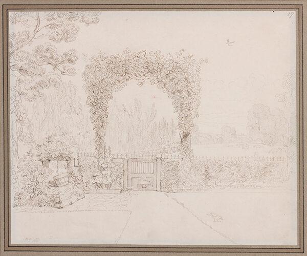 SPILSBURY Maria (1776-1820) - A garden gate.
