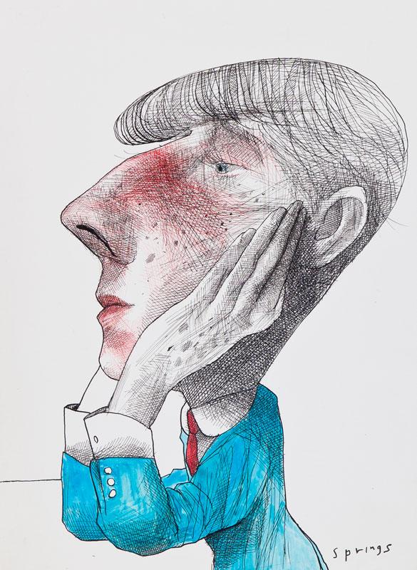 SPRINGS John (b.1962) - 'Aubrey Beardsley'.