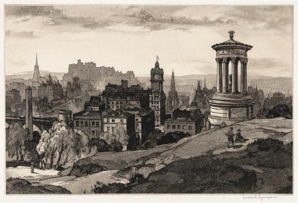 SQUIRRELL Leonard R.W.S. R.E. (1893-1979) - Edinburgh.