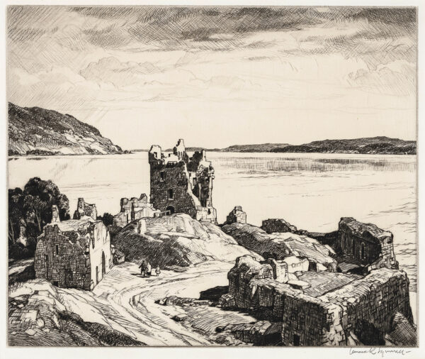 SQUIRRELL Leonard R.W.S. R.E. (1893-1979) - Loch Ness.