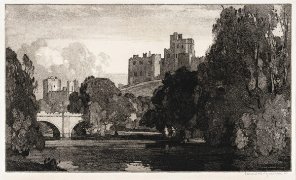 SQUIRRELL Leonard R.W.S. R.E. (1893-1979) - Alnwick Castle.
