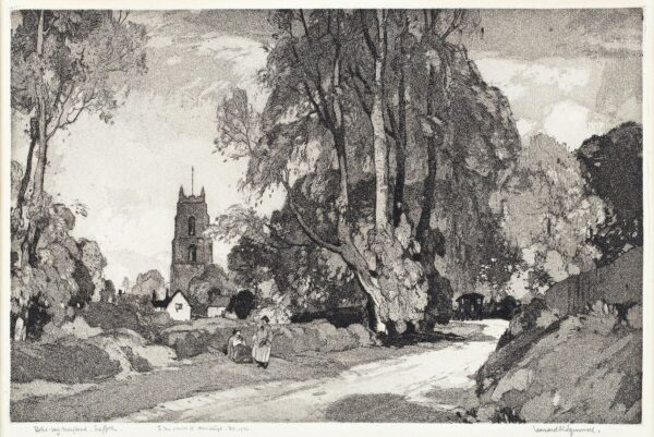 SQUIRRELL Leonard R.W.S. (1893-1979) - 'Stoke-by-Nayland, Suffolk'.