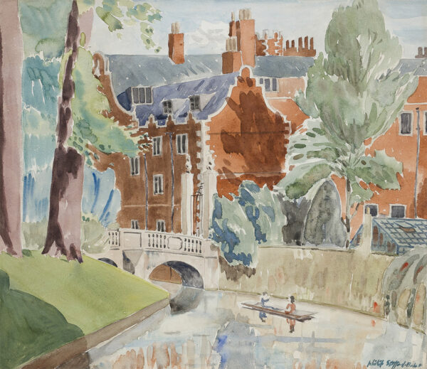 STAFFORD-BAKER Philip (1908-1955) - 'Reflections in the river Cam'.