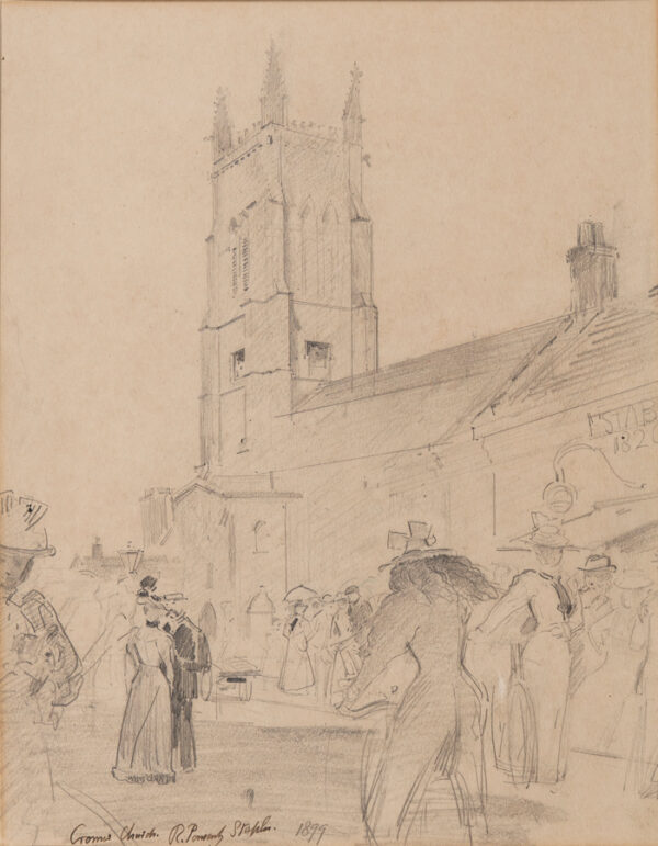 STAPLES Sir Robert Ponsonby (1853-1943) - 'Cromer Church', Norfolk.