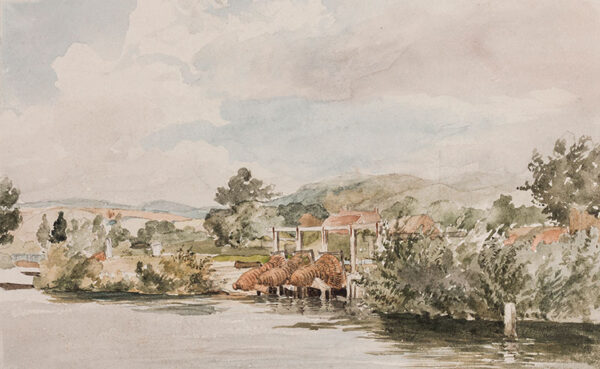 STARK James (1794-1859) - Fishing nets, probably on the upper Thames.