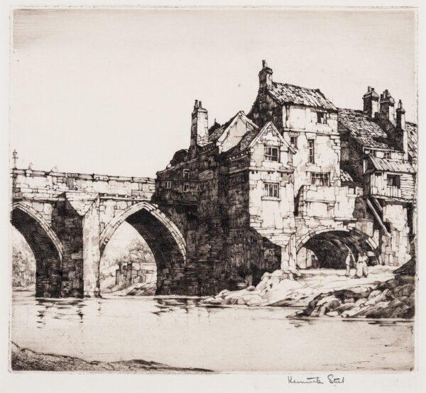 STEEL Kenneth (1906-1970) - 'Elvet Bridge, Durham'.
