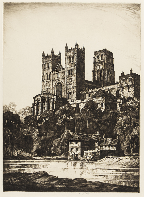 STEEL Kenneth (1906-1970) - Durham Cathedral from the river.