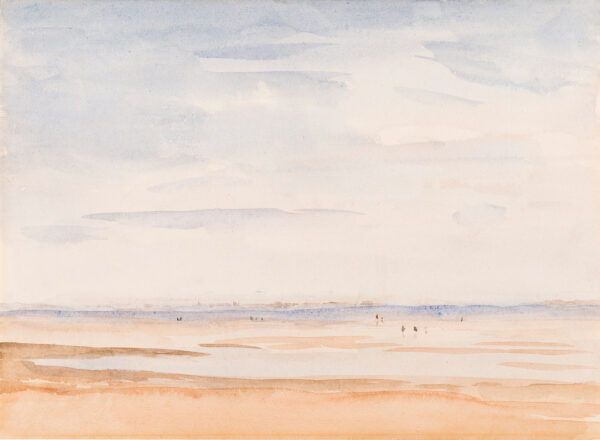 STEER Philip Wilson O.N. (1860-1942) - 'Low Tide, Whitstable' Watercolour.