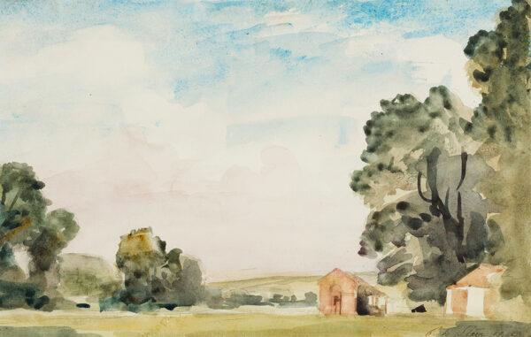 STEER Philip Wilson N.E.A.C. O.M. (1860-1942) - Landscape, probably near Bridgnorth.
