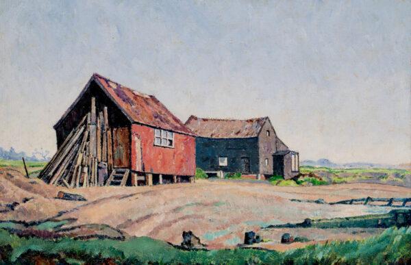 STEGGLES Harold (1911-1971) - Sheds at Walberswick.