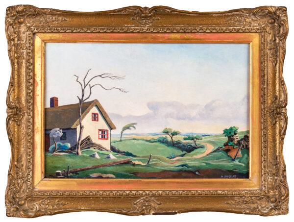 STEGGLES Harold (1911-1971) - 'Near Great Sampford, Essex'.