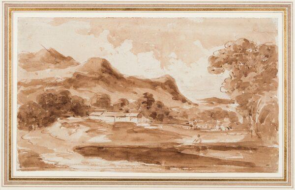 STEUART Sir John James F.R.S.E. (1779-1849) - Scottish landscape study.