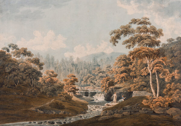 STEVENSON James (Late 18th/early 19th Century) - Peebleshire: 'Habbies How, Peggy's Pool and Carlops Hill'.