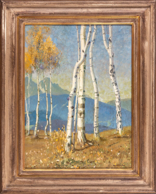 STOKES Adrian (1854-1935) - 'Birch trees in the Tyrol'.