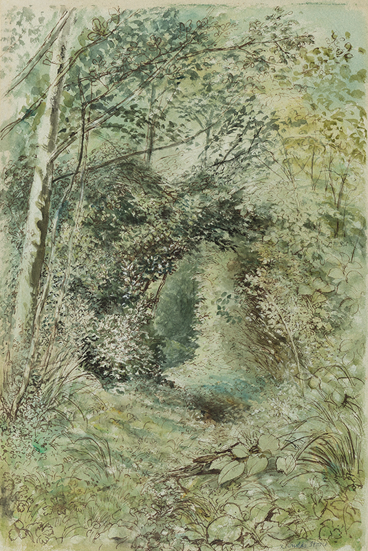 STONE Reynolds C.B.E. R.D.I. (1909-1979) - 'Holly and Alder / In the Dell at The Old Rectory', Litton Cheney, Somerset.