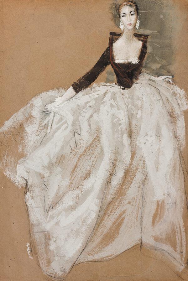 STONEHOUSE Brian (1918-1989) - An Evening Dress.