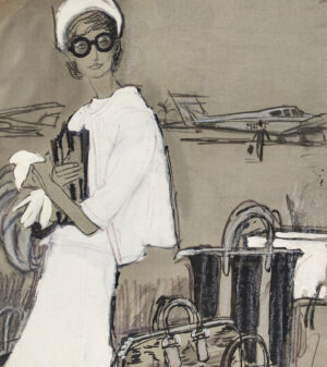 STONEHOUSE M.B.E. Brian (1918-1998) - Flying In to Palm Beach.
