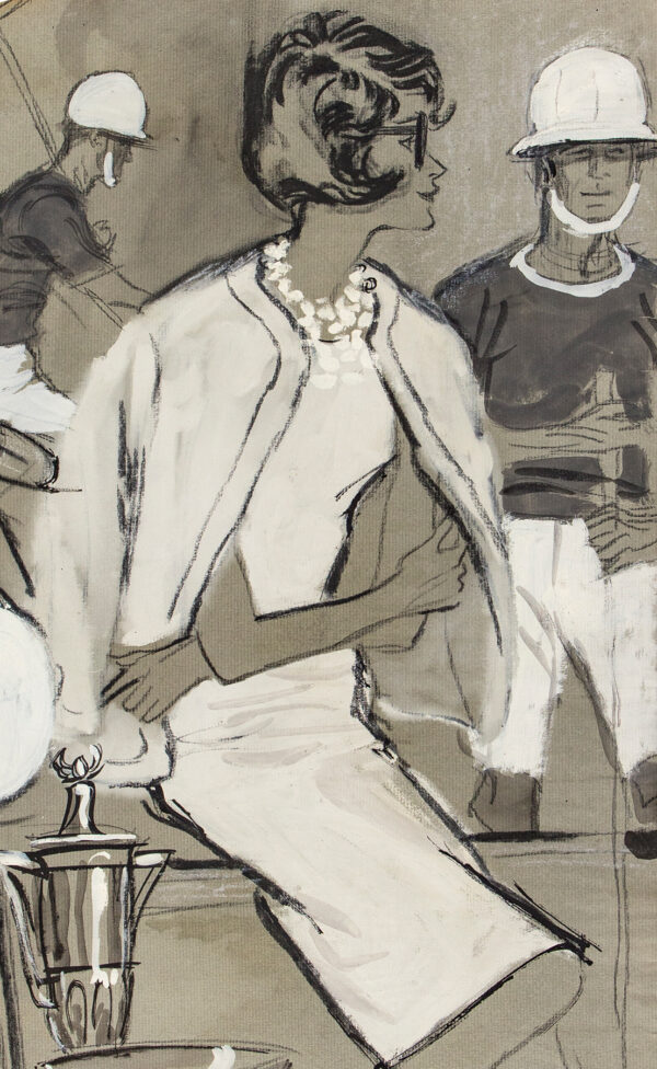 STONEHOUSE M.B.E. Brian (1918-1998) - Dressed for the Polo Ground, Palm Beach.