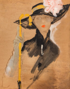 STONEHOUSE M.B.E. Brian (1918-1998) - A Picture Hat, and Malacca Cane.