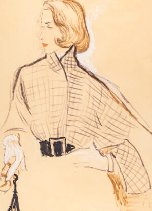 STONEHOUSE M.B.E. Brian (1918-1998) - A Checked and Belted Jacket.