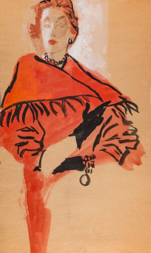 STONEHOUSE M.B.E. Brian (1918-1998) - The Red, Fringed Coat.