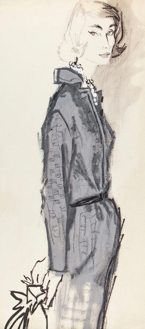 STONEHOUSE M.B.E. Brian (1918-1998) - A Grey Dress.
