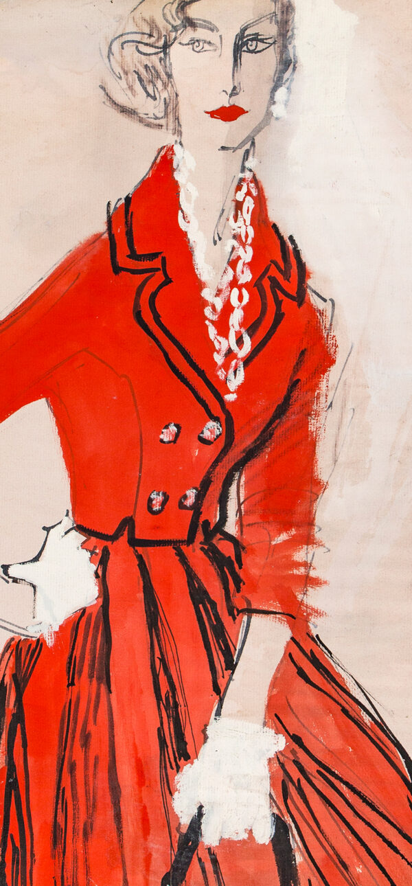 STONEHOUSE M.B.E. Brian (1918-1998) - A Red Suit edged with Black.