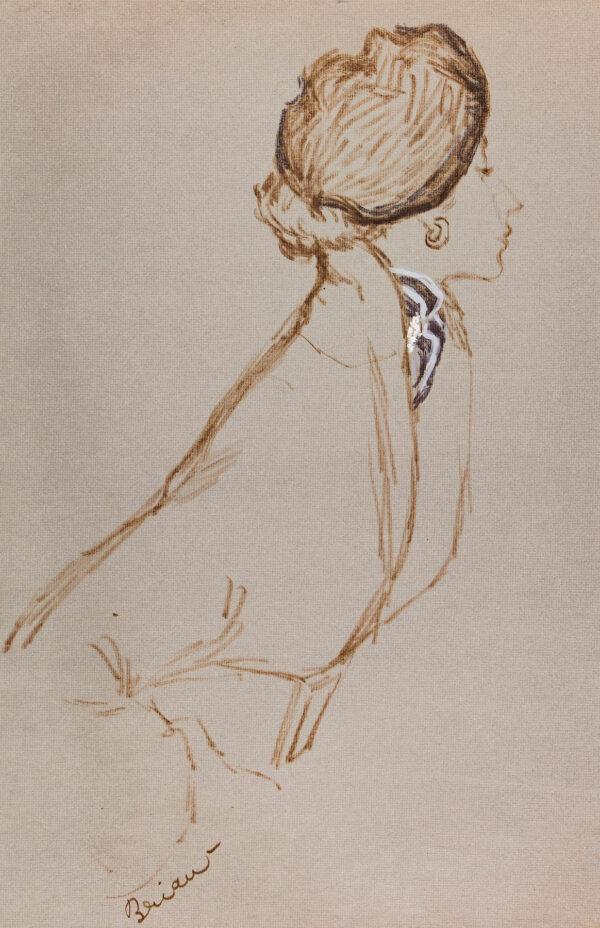 STONEHOUSE M.B.E. Brian (1918-1998) - Beret and Cravat.