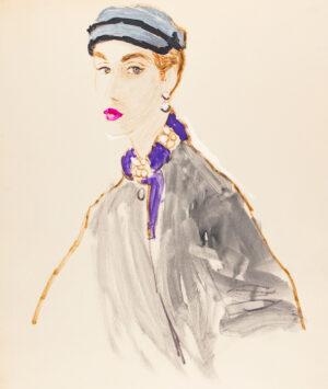 STONEHOUSE M.B.E. Brian (1918-1998) - A Purple Collar and Pink Lipstick.