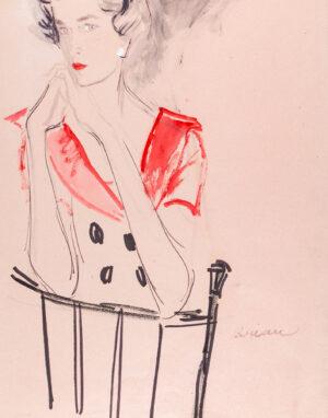 STONEHOUSE M.B.E. Brian (1918-1998) - A Red Dress.