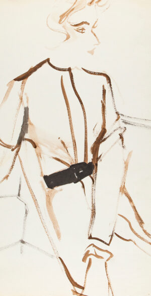 STONEHOUSE M.B.E. Brian (1918-1998) - A Belted Dress.