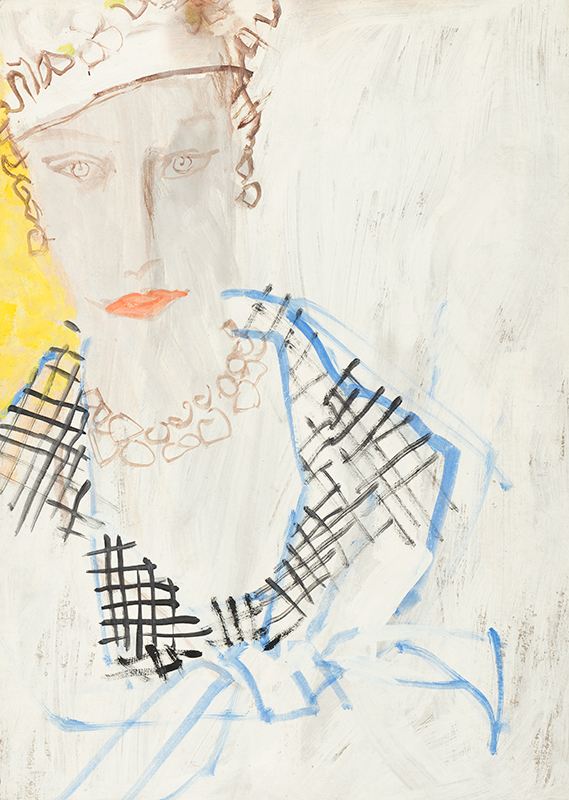 STONEHOUSE M.B.E. Brian (1918-1998) - Fashion illustration, probably for American Vogue.