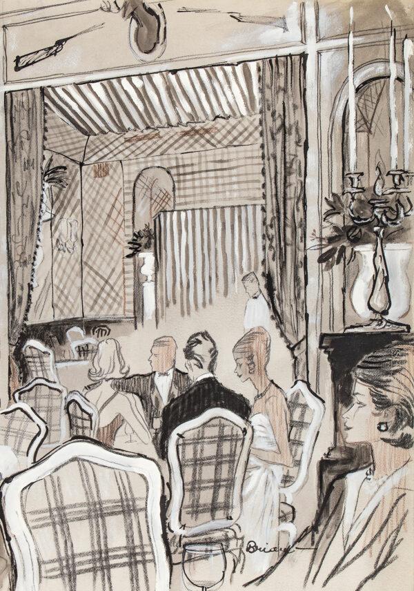 STONEHOUSE M.B.E. Brian (1918-1998) - Night Club Restaurant, possibly at Palm Beach.