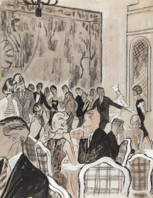 STONEHOUSE M.B.E. Brian (1918-1998) - Night Club Restaurant, possibly Palm Beach.