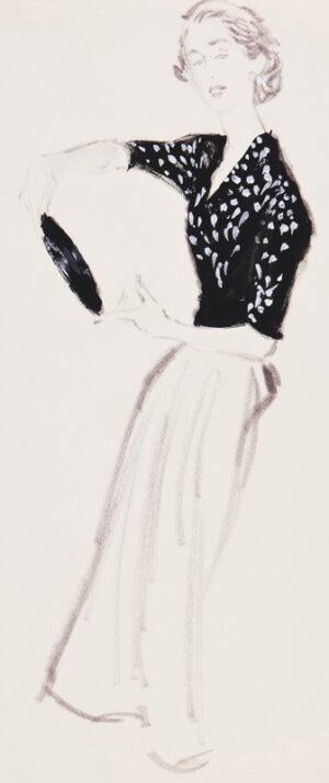 STONEHOUSE M.B.E. Brian (1918-1998) - The Black and White Top.