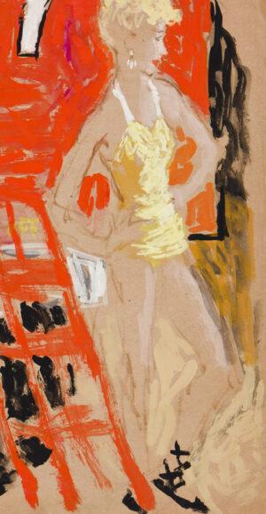 STONEHOUSE M.B.E. Brian (1918-1998) - The Yellow Bathing Costume.