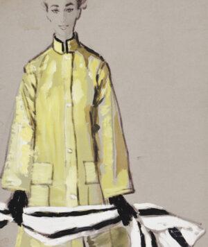 STONEHOUSE M.B.E. Brian (1918-1998) - The Yellow Coat.