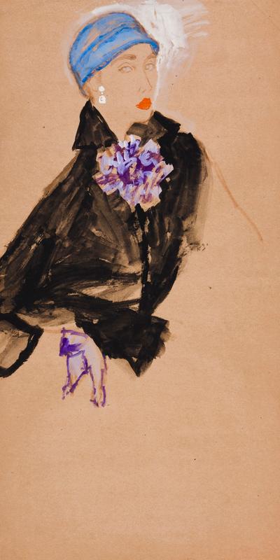 STONEHOUSE M.B.E. Brian (1918-1998) - The Blue Hat.
