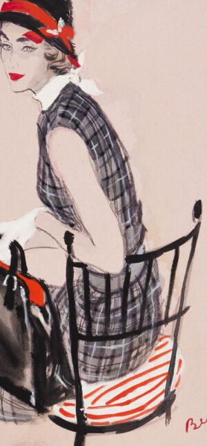 STONEHOUSE M.B.E. Brian (1918-1998) - The Checked Dress.
