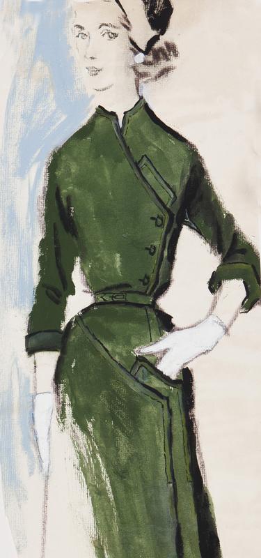 STONEHOUSE M.B.E. Brian (1918-1998) - The Green Dress.