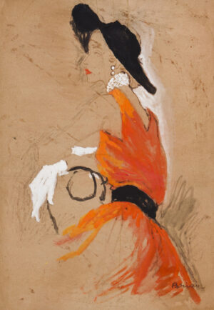 STONEHOUSE M.B.E. Brian (1918-1998) - The Orange Dress.
