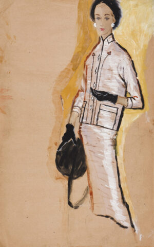 STONEHOUSE M.B.E. Brian (1918-1998) - The Pink Suit with Black Accessories.