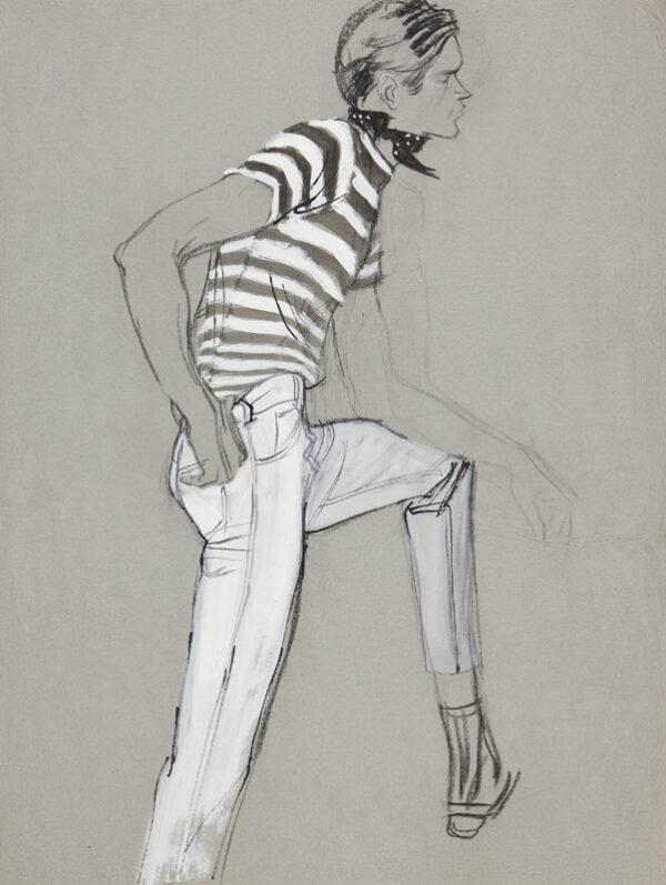 STONEHOUSE M.B.E. Brian (1918-1998) - The Striped Tee-Shirt.